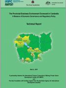 The Provincial Business Environment Scorecard in Cambodia